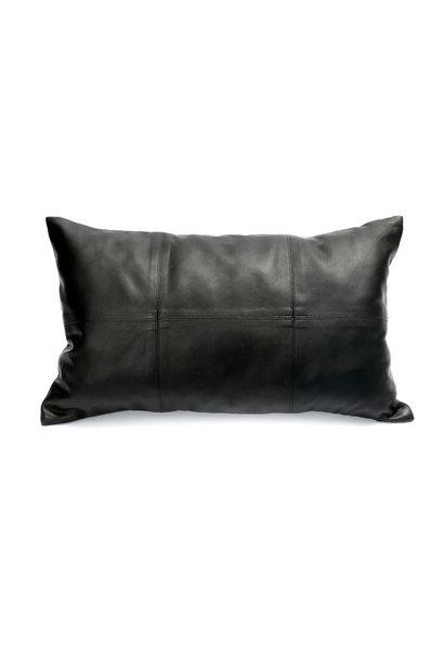Kussen The Six Panel Leather Black