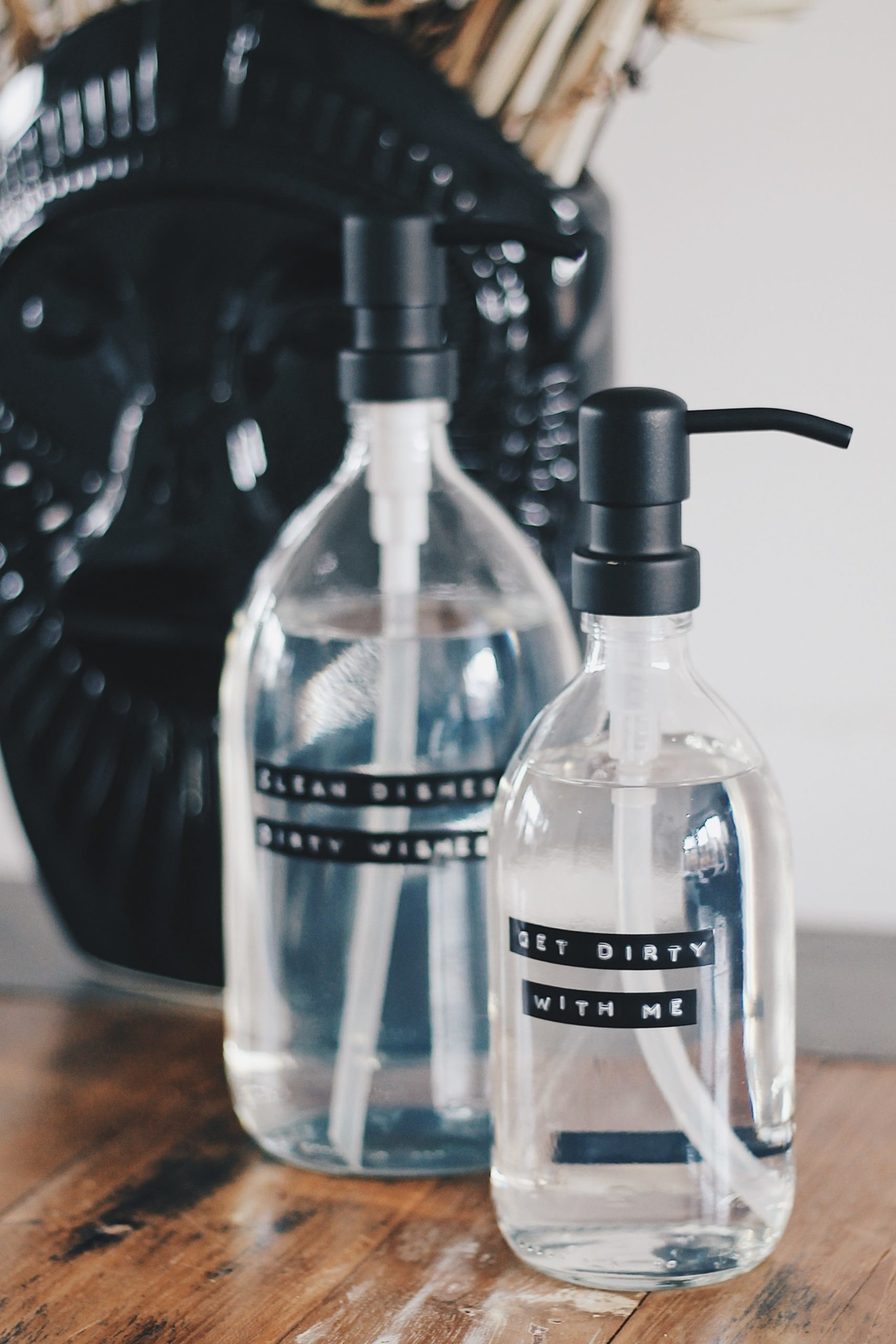 Afwasmiddel helder glas - zwart - 1L 'Dish soap'-2
