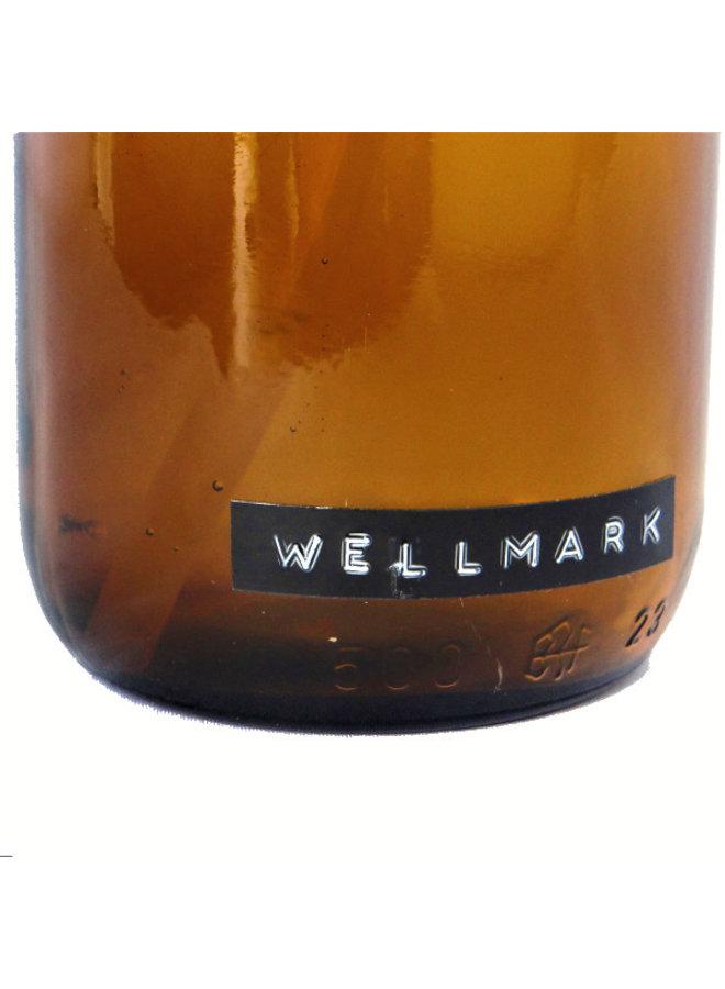 Afwasmiddel bruin glas met zwart stalen pomp 500ml  'Get dirty with me'