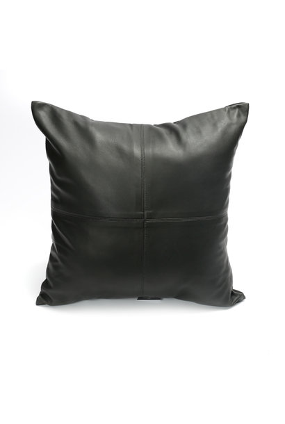 Kussen The Four Panel Leather Black