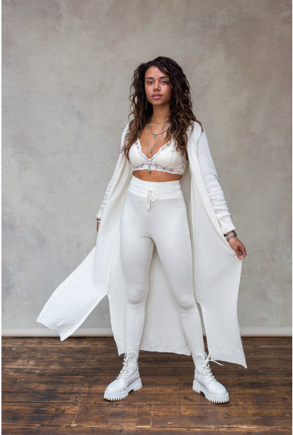 Vest ayla knitted off white