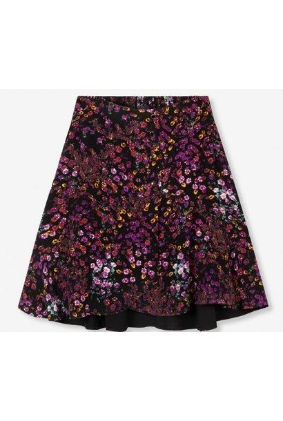 Rok woven ditsy flower purple