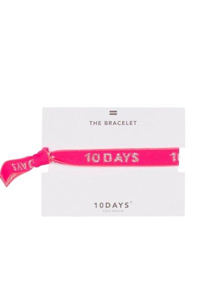 Armbandje elastic bracelet candy pink