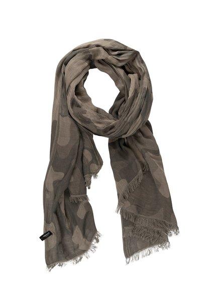 Sjaal camo grey moss