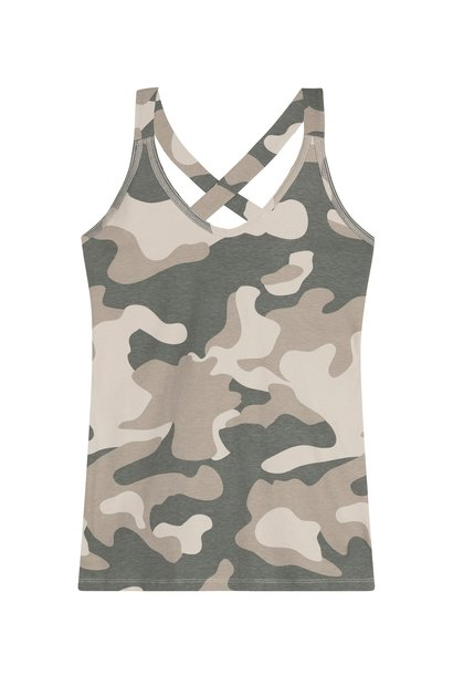 Top wrapper camo grey moss