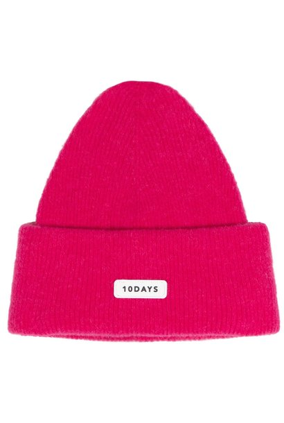 Muts knitted beanie candy pink