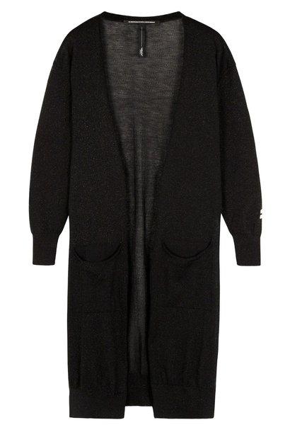 Vest cardigan lurex black