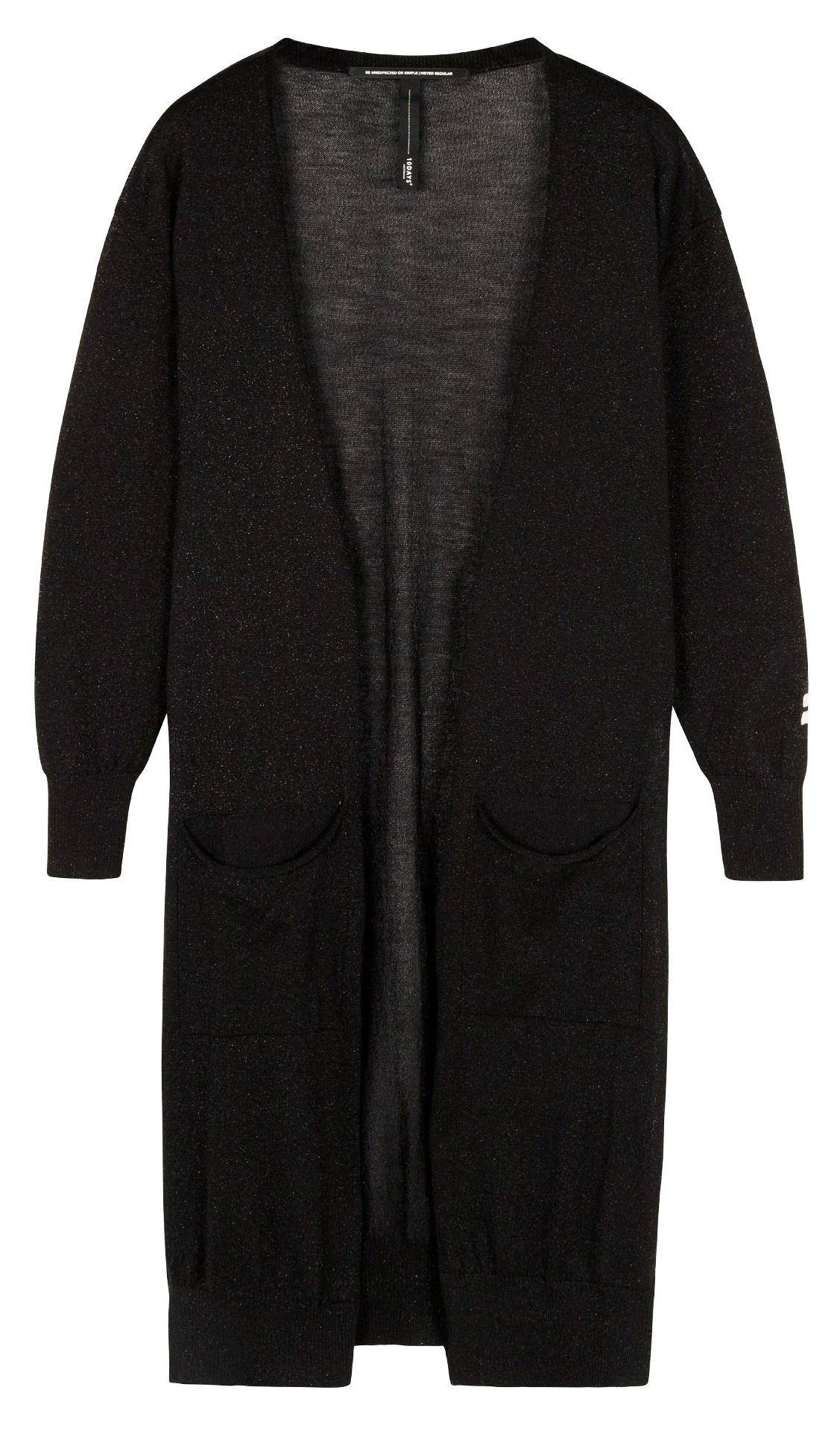 Vest cardigan lurex black-1