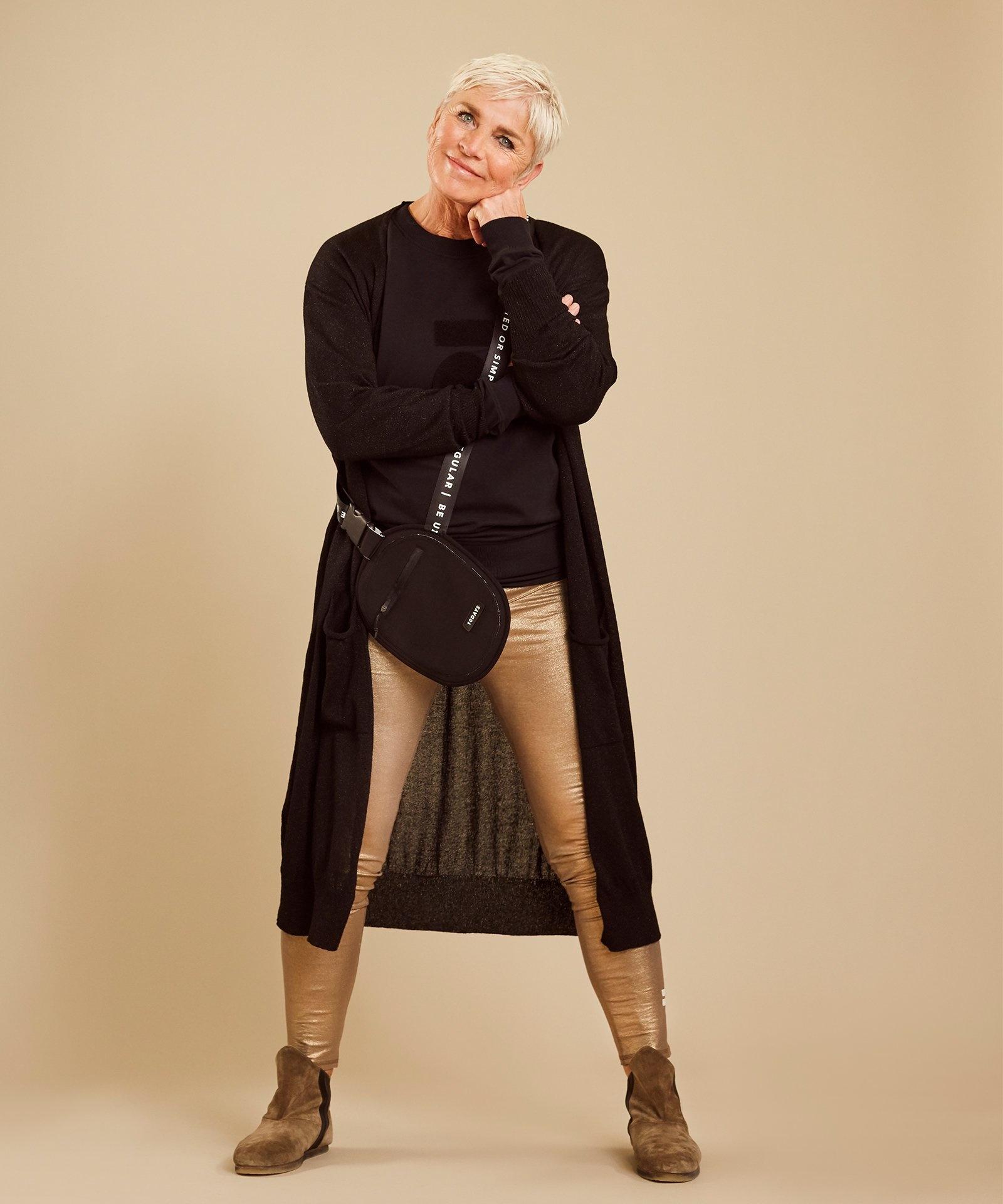 Vest cardigan lurex black-2