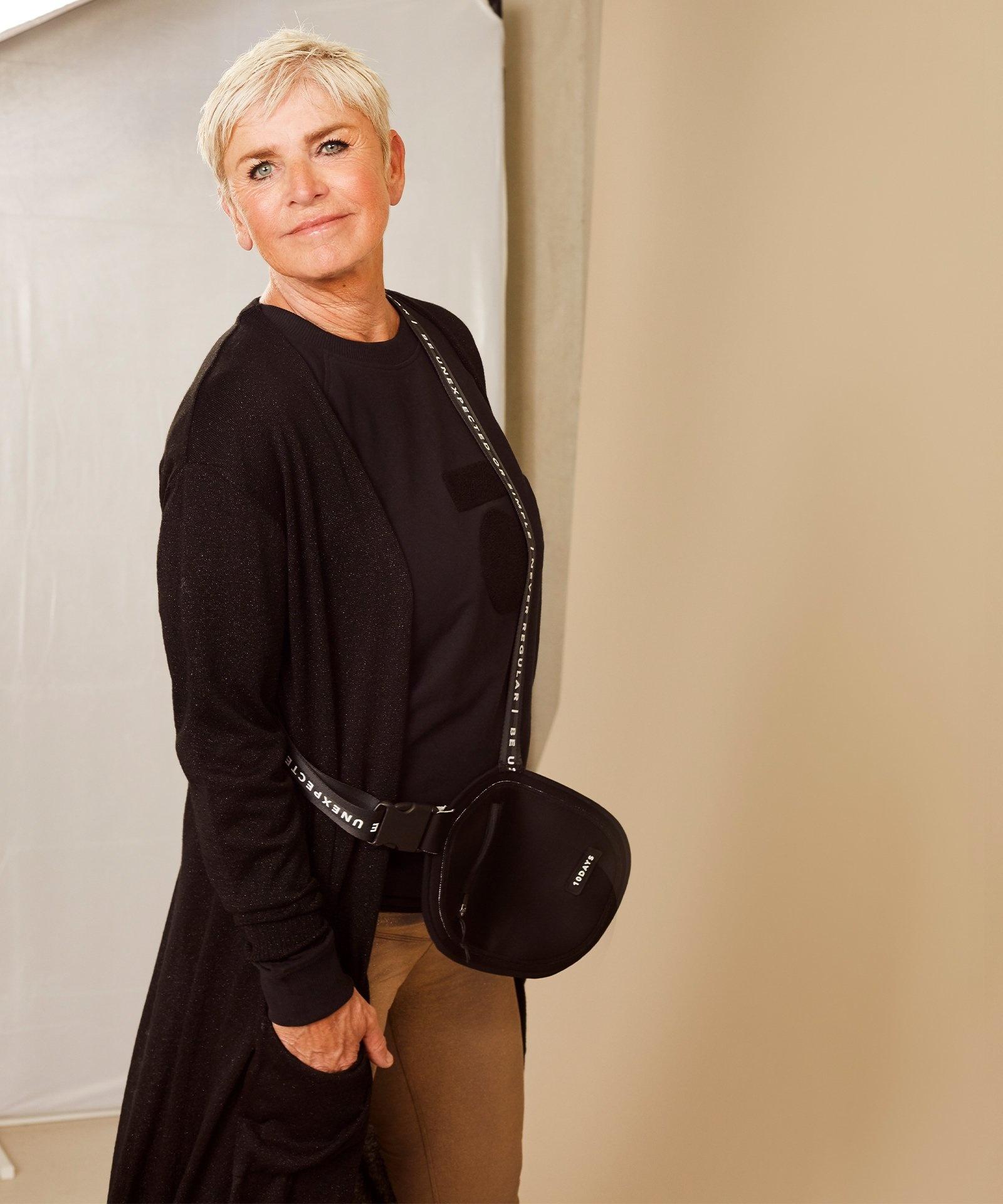 Vest cardigan lurex black-6
