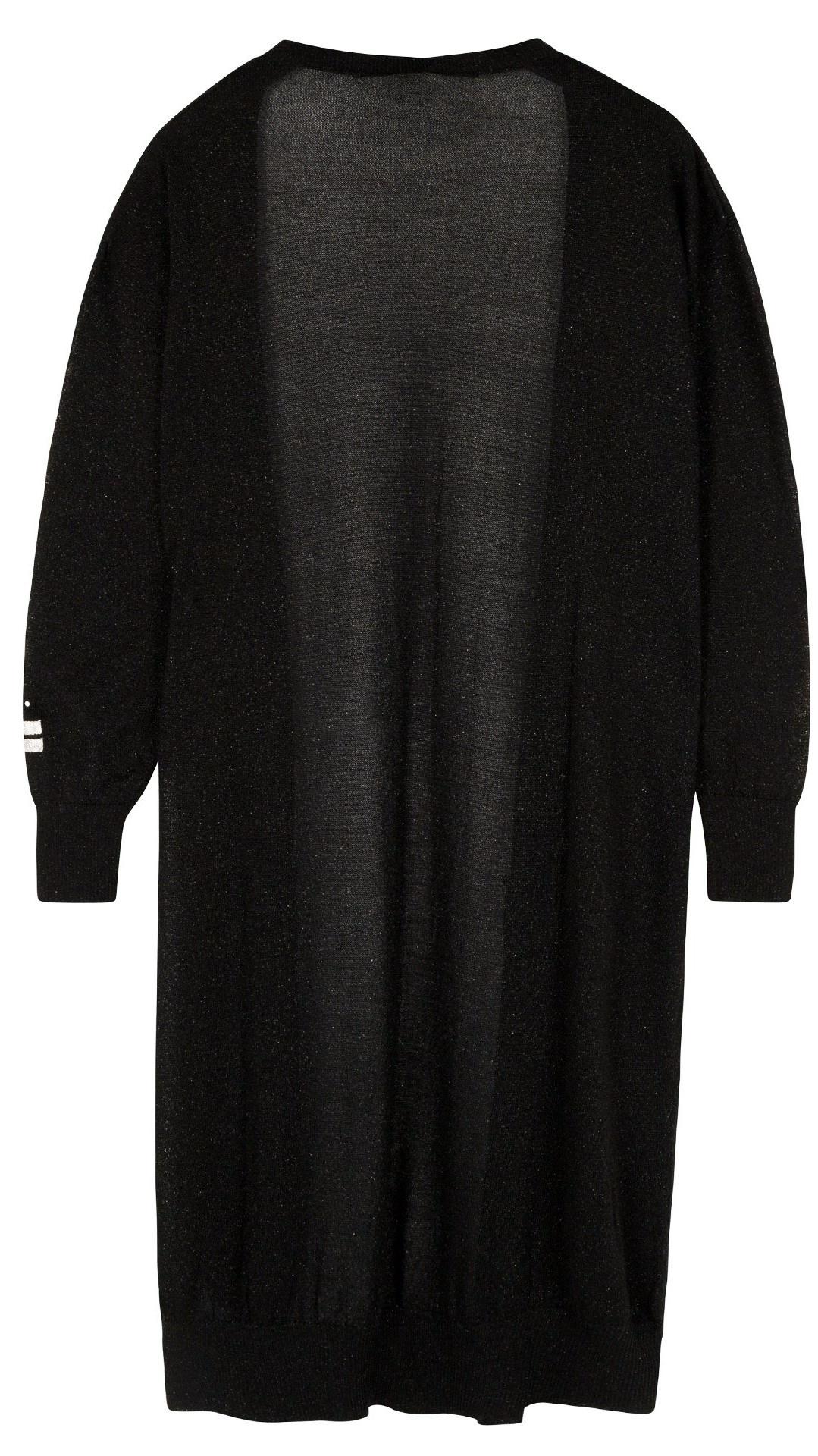 Vest cardigan lurex black-4
