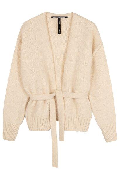 Vest short cardigan winter white