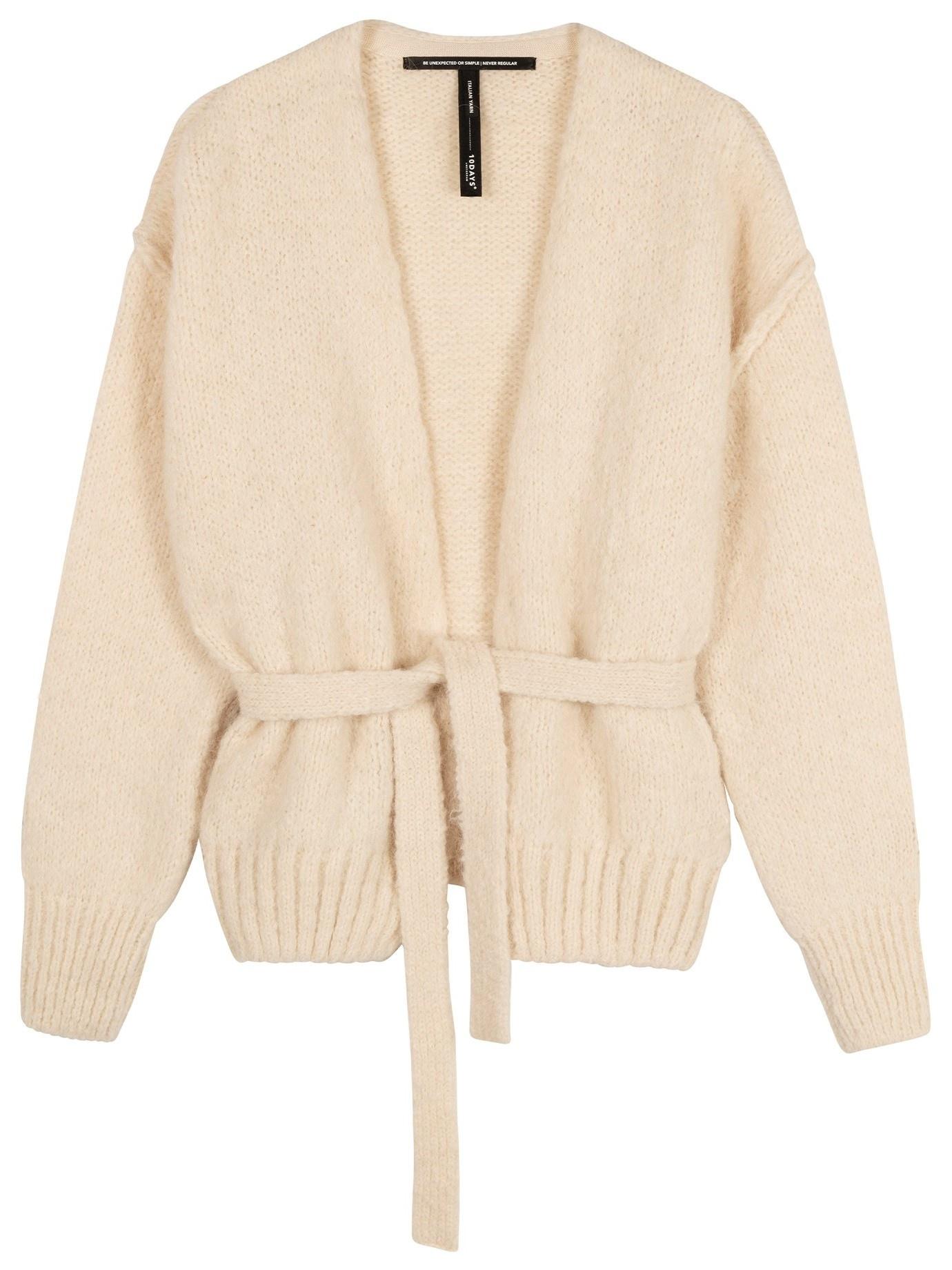 Vest short cardigan winter white-1