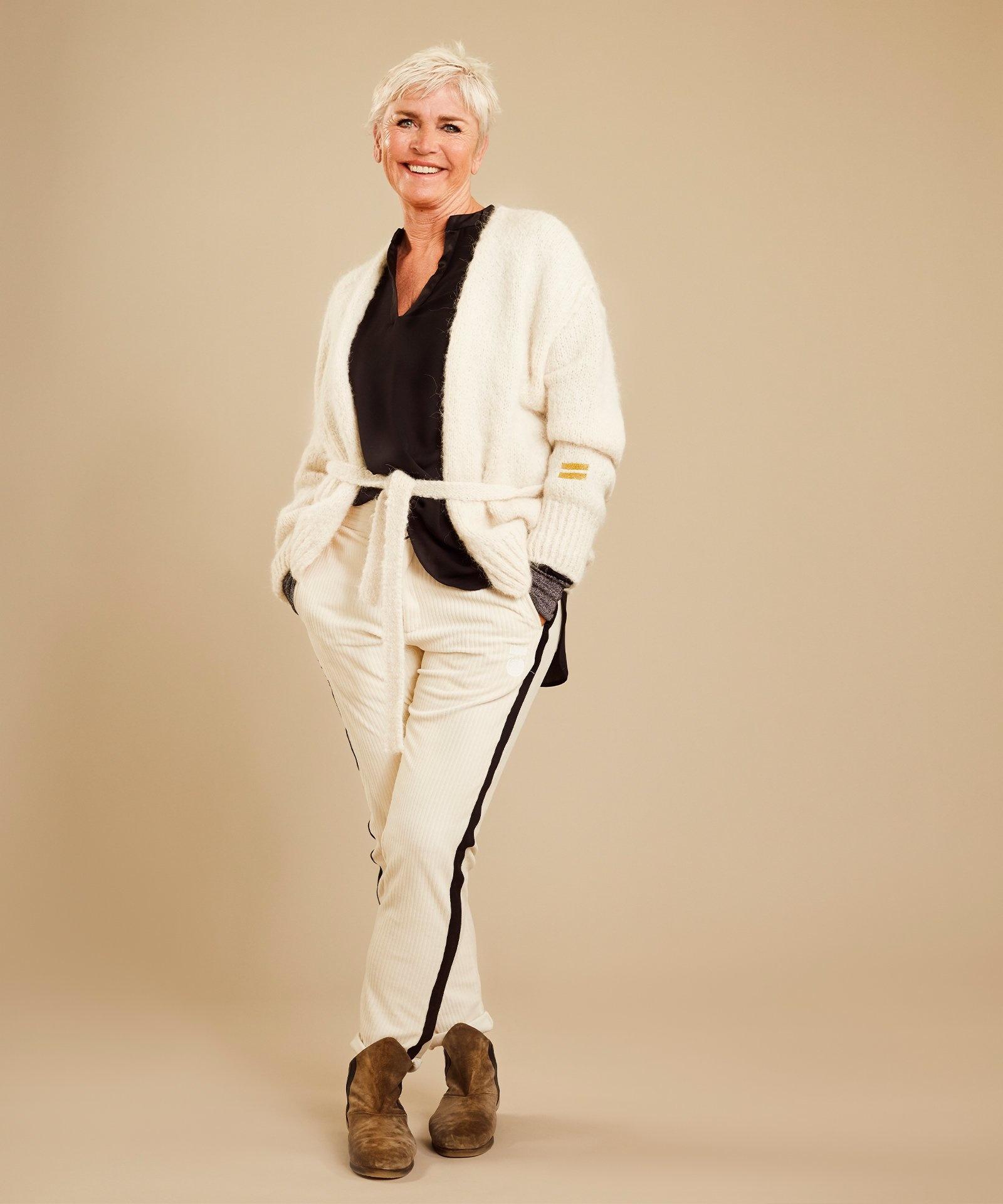 Vest short cardigan winter white-5