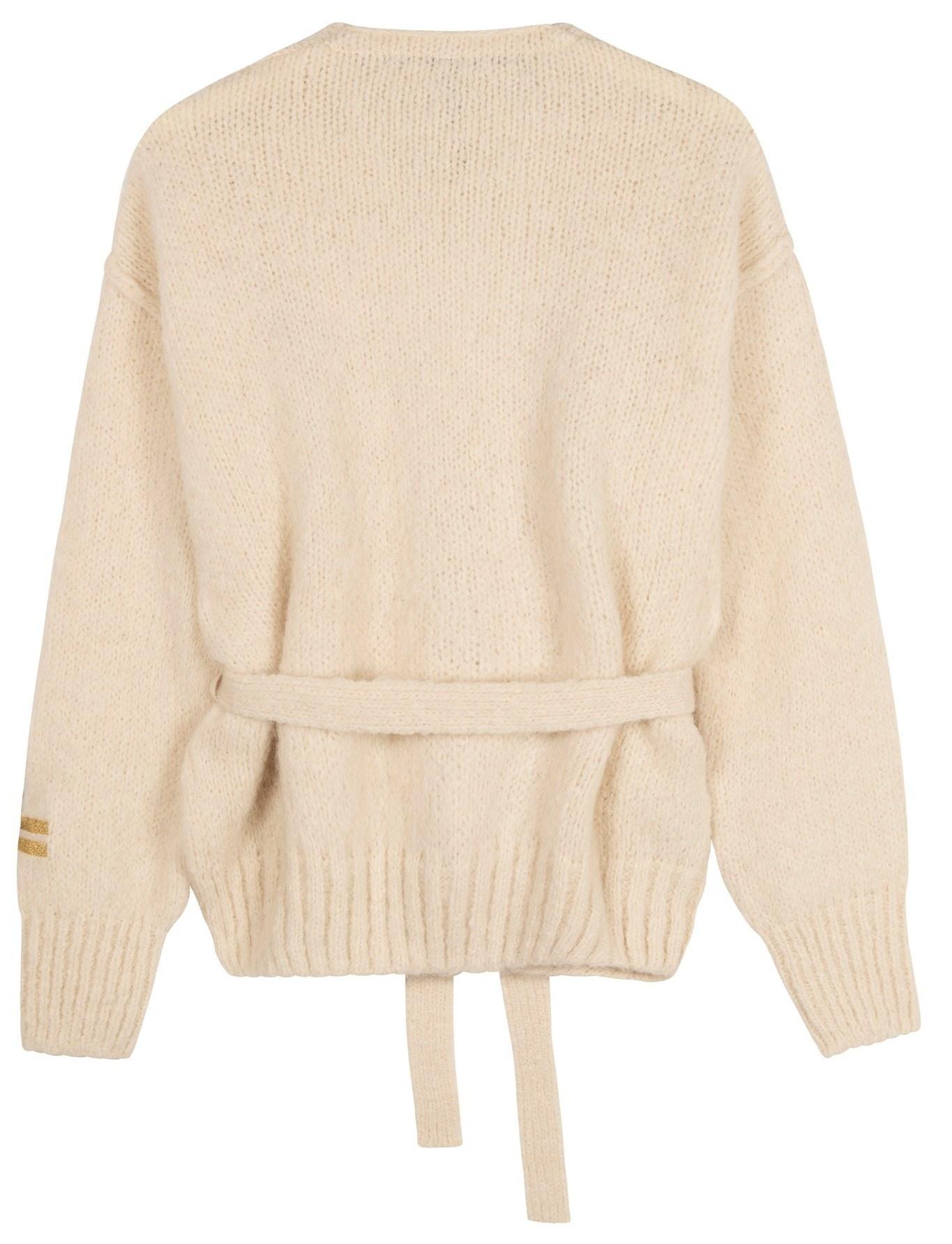 Vest short cardigan winter white-3