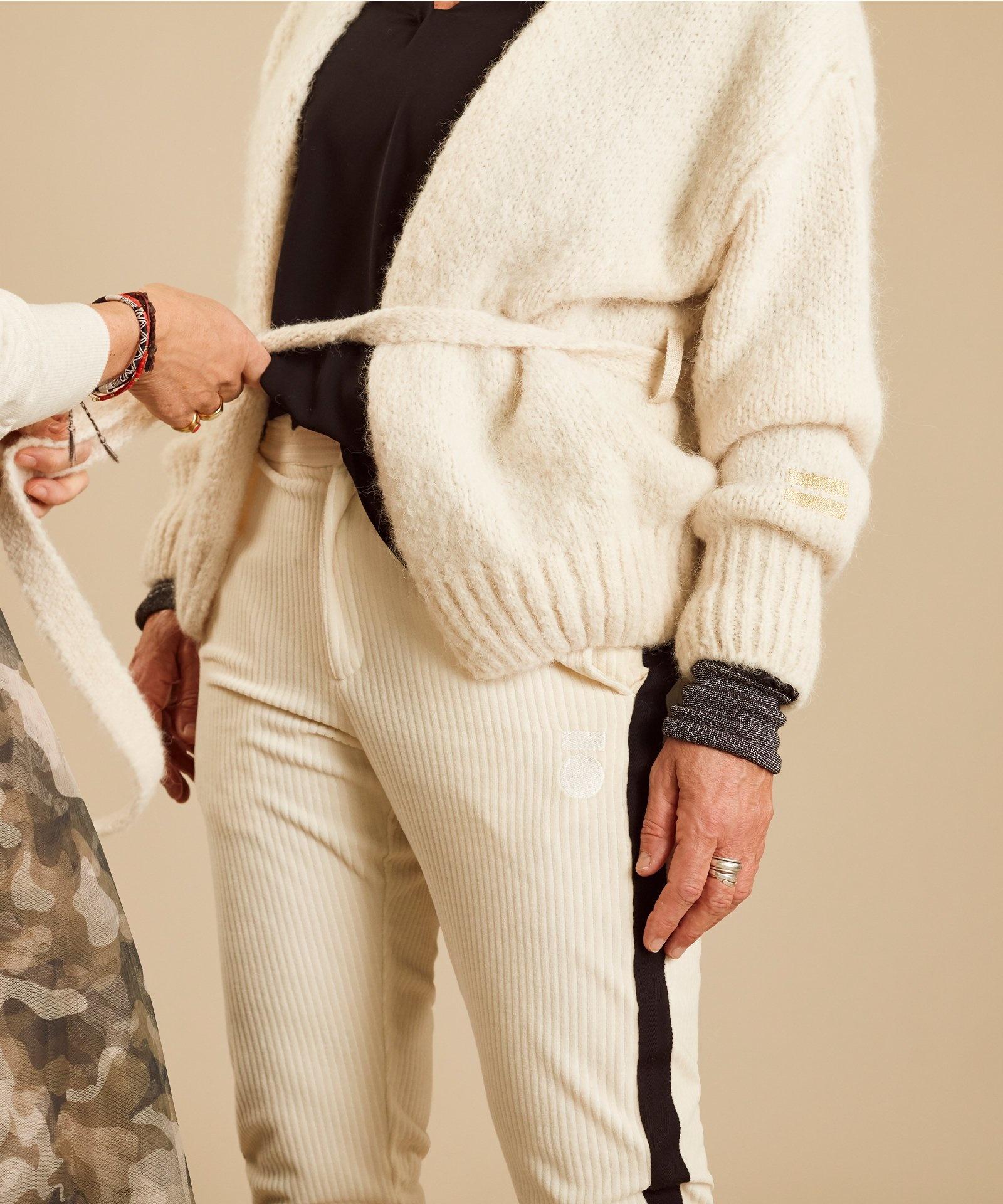 Vest short cardigan winter white-6