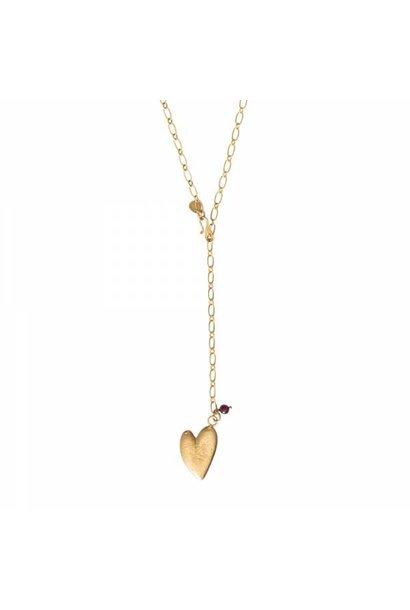 Ketting Comfort Garnet Gold Necklace