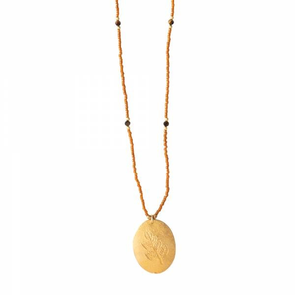 Ketting Swing Tiger Eye Gold Necklace-1