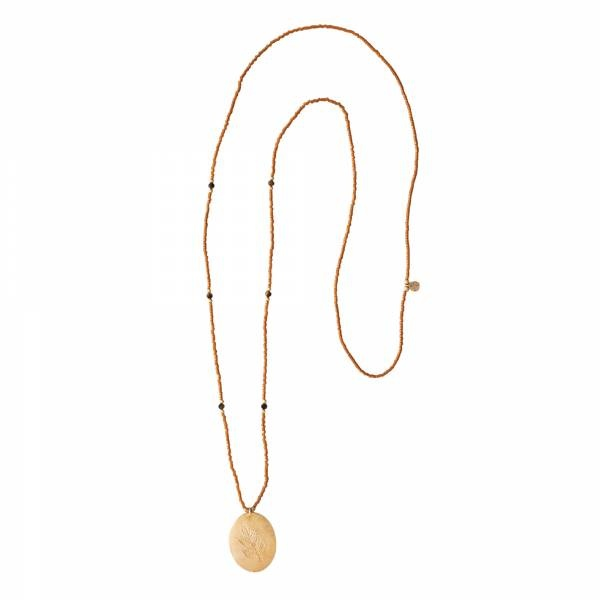 Ketting Swing Tiger Eye Gold Necklace-3