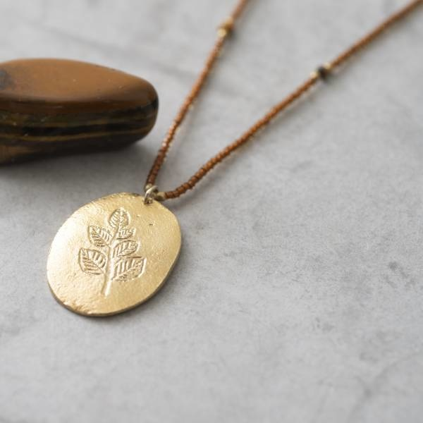 Ketting Swing Tiger Eye Gold Necklace-2