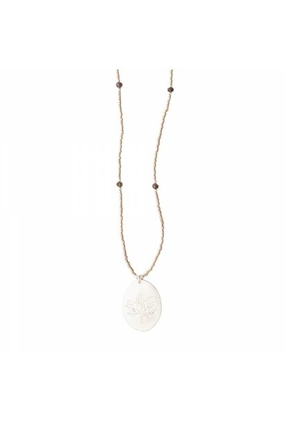 Ketting Swing Smokey Quartz Silver Necklace