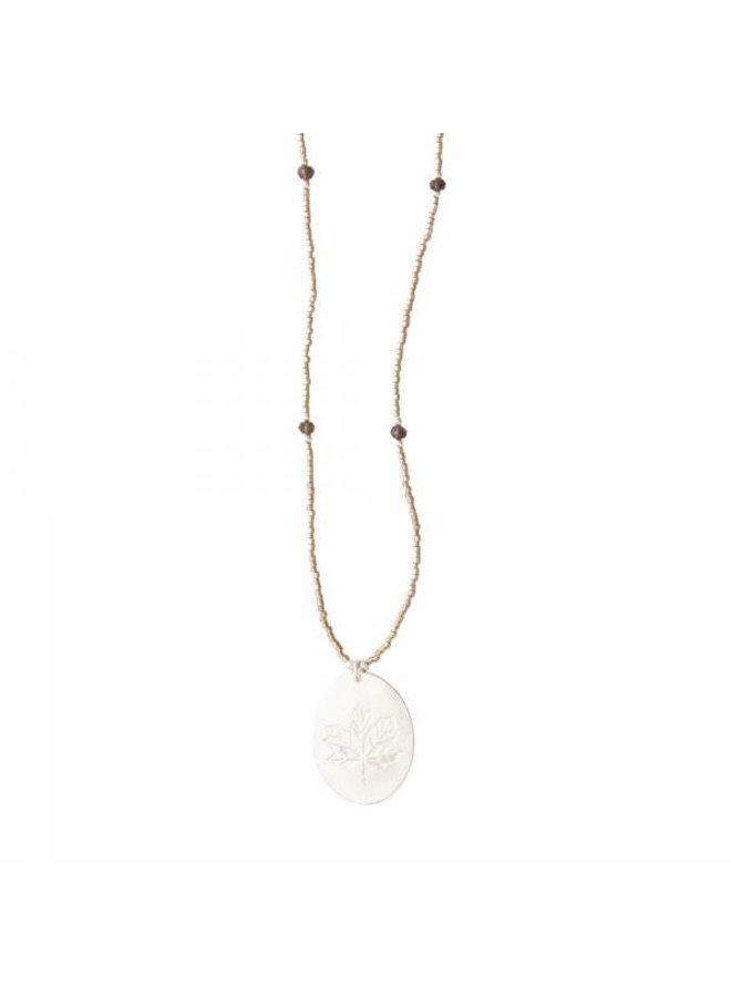 Ketting Swing Smokey Quartz Silver Necklace