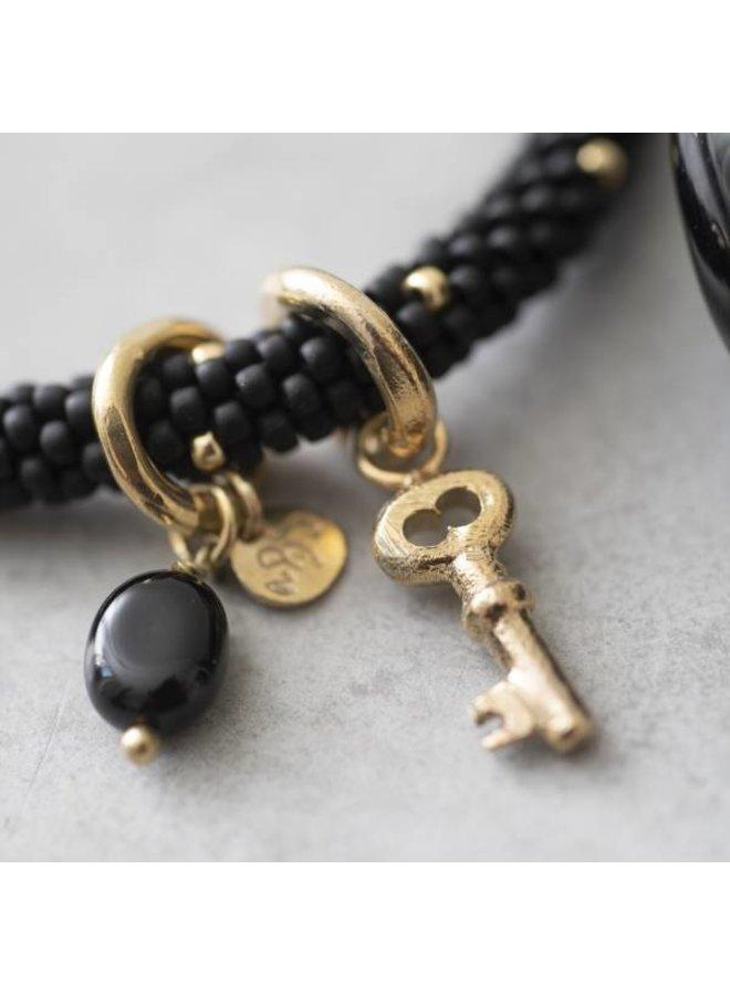 Armband Jacky Multi Color Black Onyx Gold Bracelet