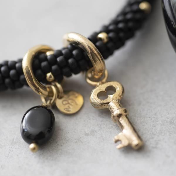 Armband Jacky Multi Color Black Onyx Gold Bracelet-2