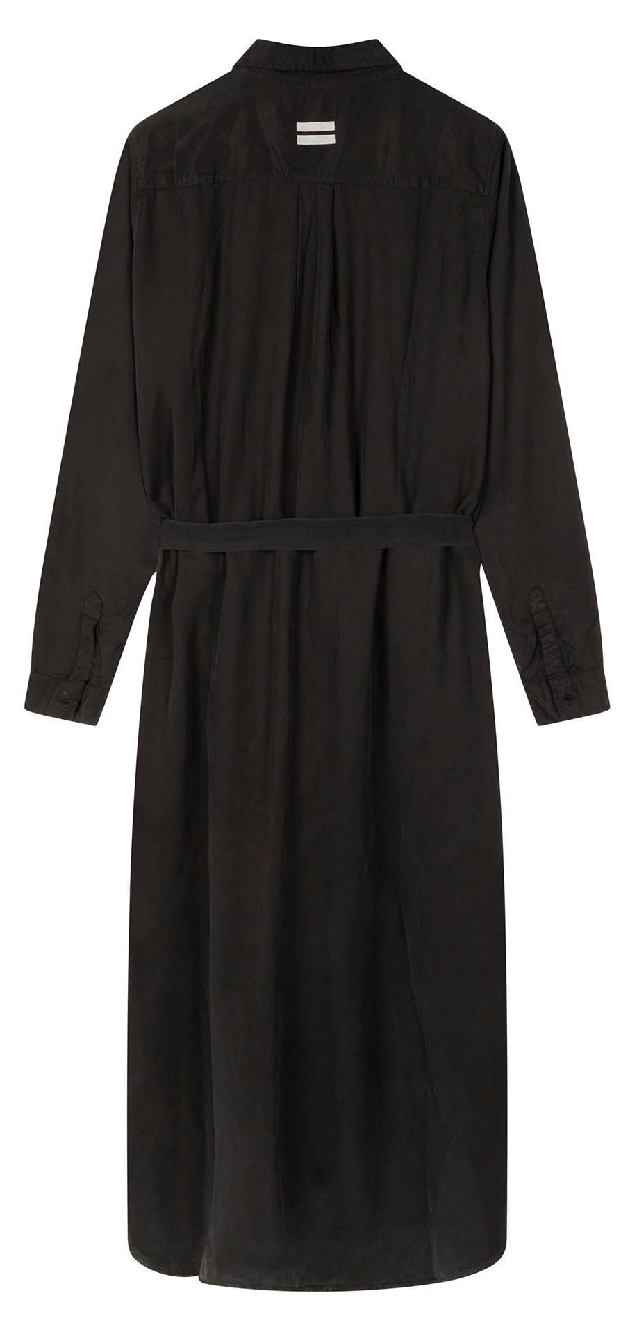 Jurk Long shirt dress black-2