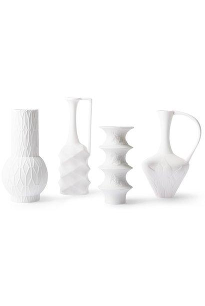Vaas Matt white porcelain set of 4