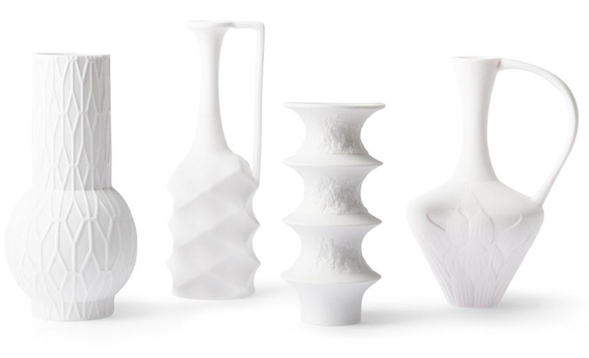 Vaas Matt white porcelain set of 4-1