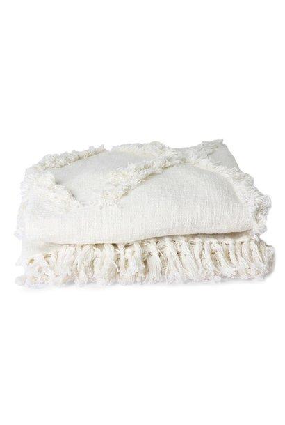 Bedsprei white fringe bedspread 270x270CM