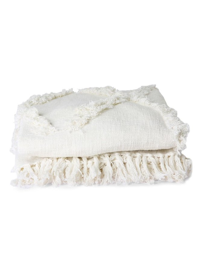 Bedsprei white fringe bedspread 270x270