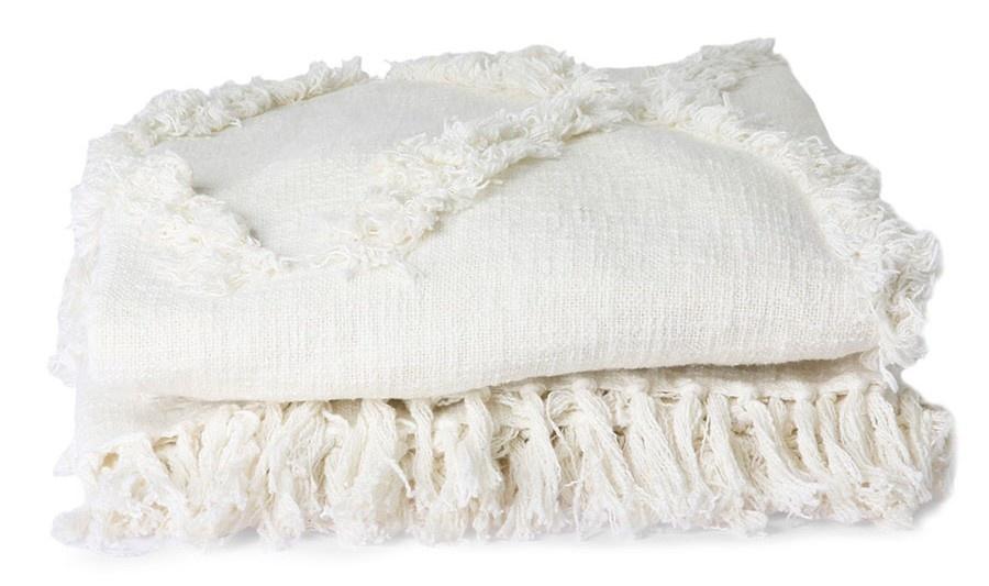 Bedsprei white fringe bedspread 270x270-1