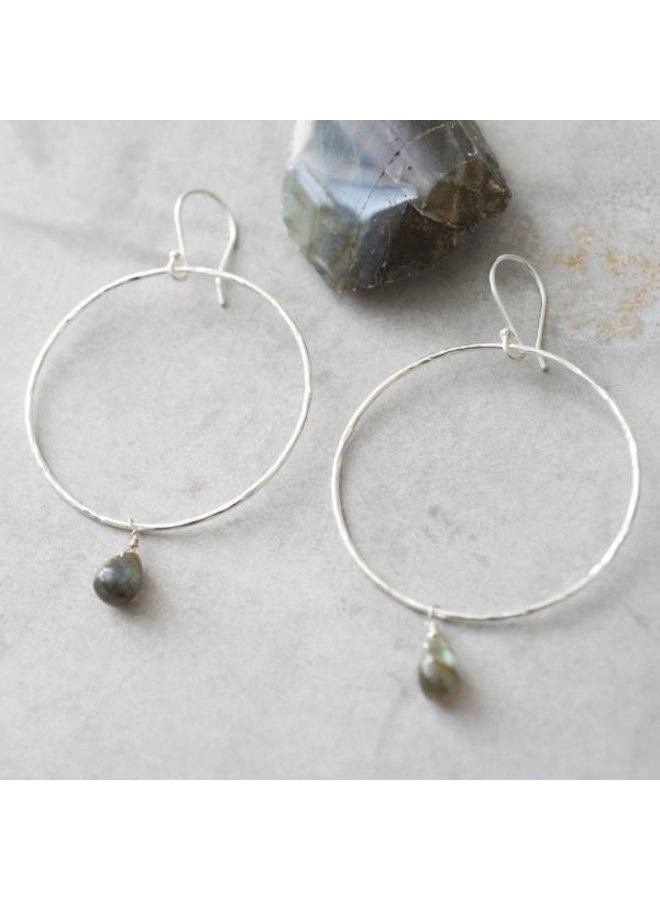 Oorbellen per paar Embrace Labradorite Silver Earrings