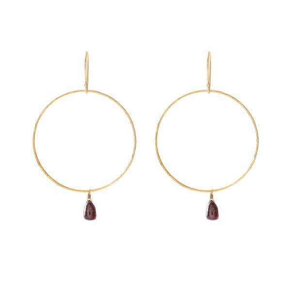 Oorbellen per paar Embrace Garnet Gold Earrings-1