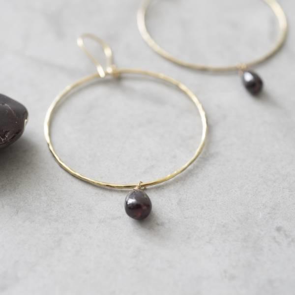 Oorbellen per paar Embrace Garnet Gold Earrings-2