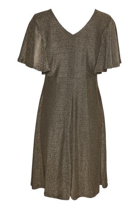 Jurk CRMinu short dress Gold Lurex-3