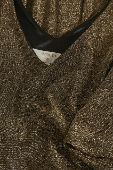 Jurk CRMinu short dress Gold Lurex-4