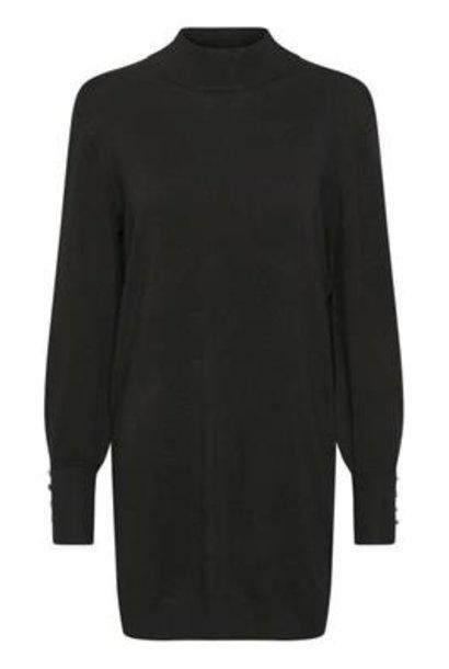 Jurk KAlila Astrid Knit Dress Black Deep