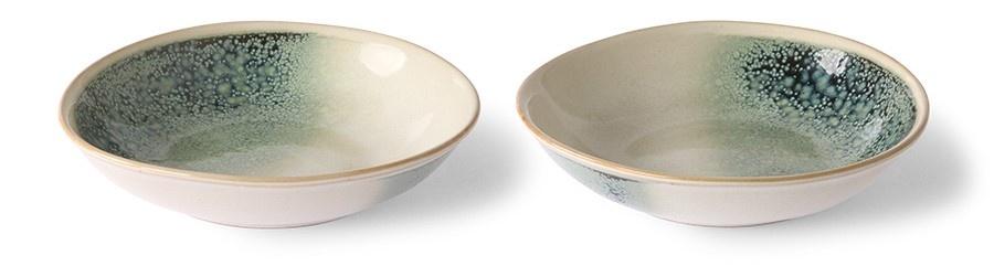 Kom ceramic 70's curry bowls mist set of 2-3
