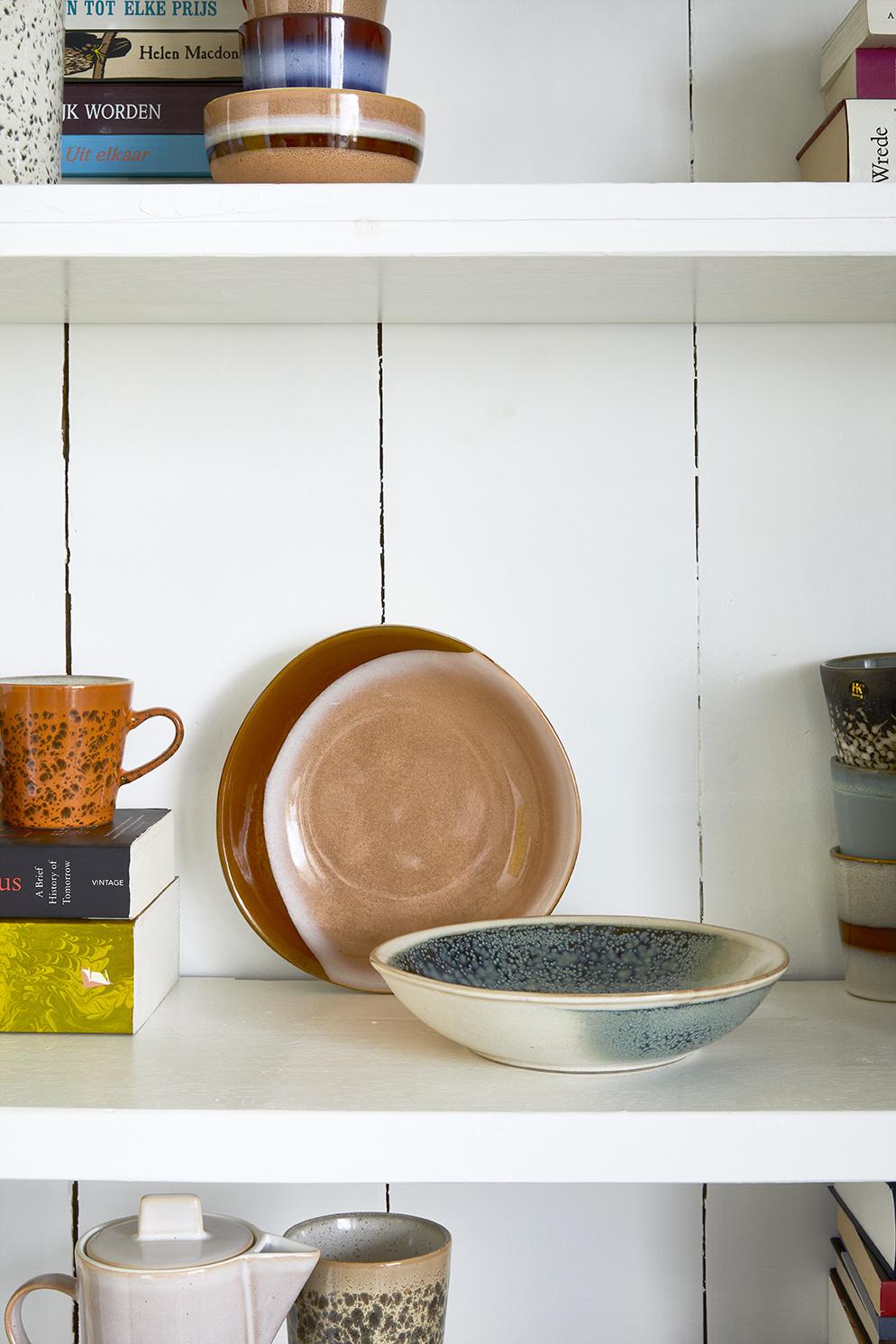 Kom ceramic 70's curry bowls mist set of 2-2