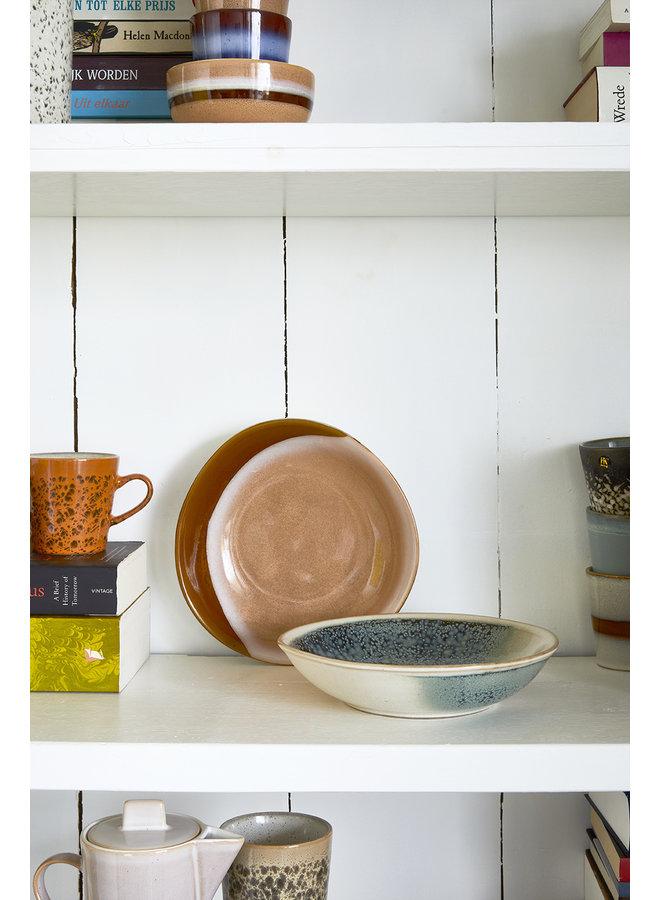 Kom ceramic 70's curry bowls hills set of 2