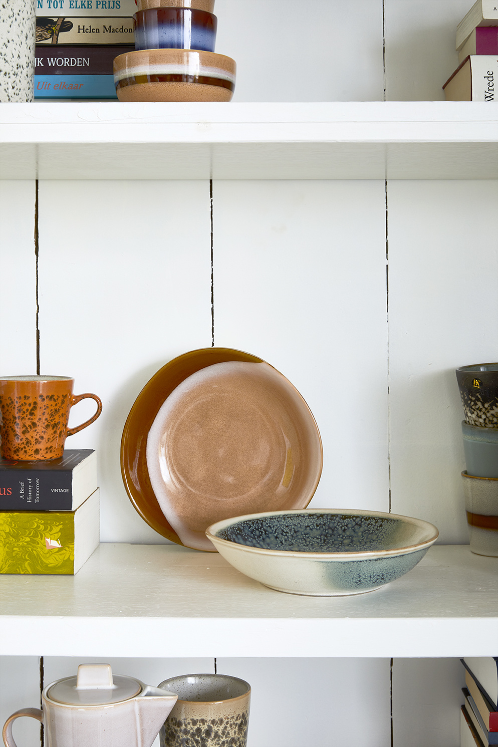 Kom ceramic 70's curry bowls hills set of 2-2
