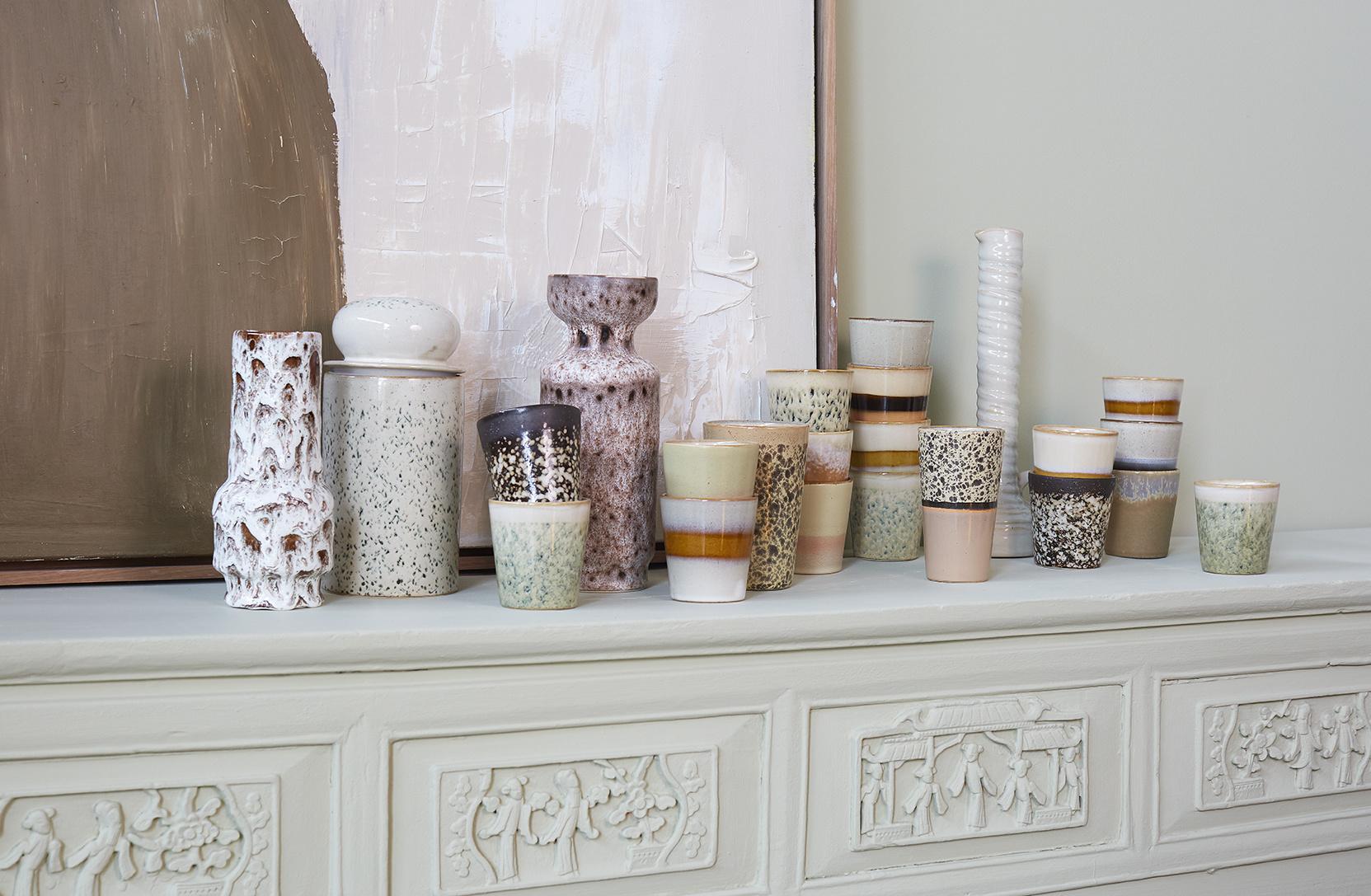 Opslag pot ceramic 70's storage jar hail-2