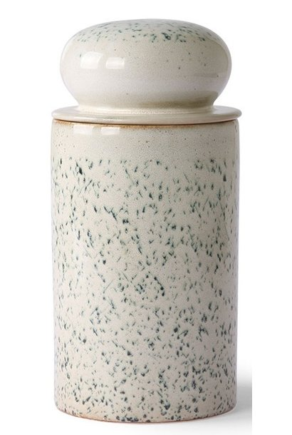 Opslag pot ceramic 70's storage jar hail