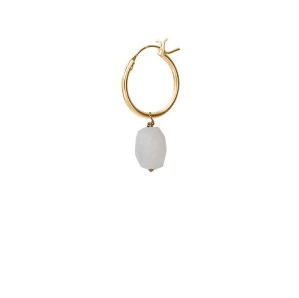 Oorbel per stuk Moonstone Gold Hoop Earring-1