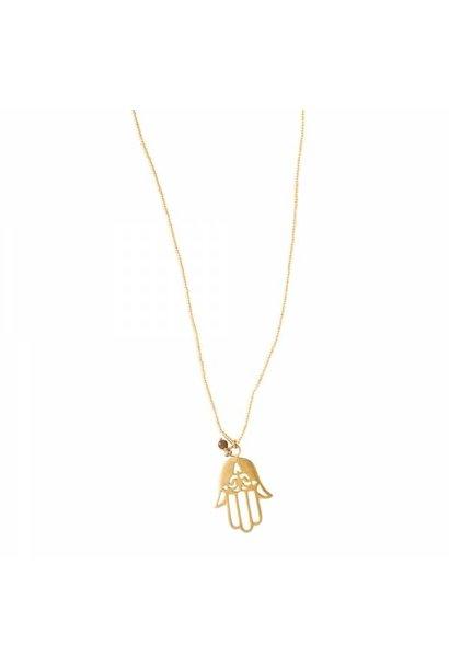Ketting Paradise Tiger Eye Gold Necklace