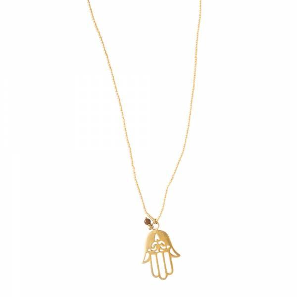 Ketting Paradise Tiger Eye Gold Necklace-1