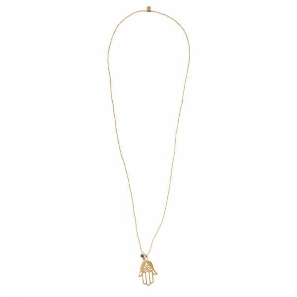 Ketting Paradise Tiger Eye Gold Necklace-3